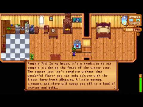 How to learn Pumpkin Pie cooking recipe - Stardew Valley