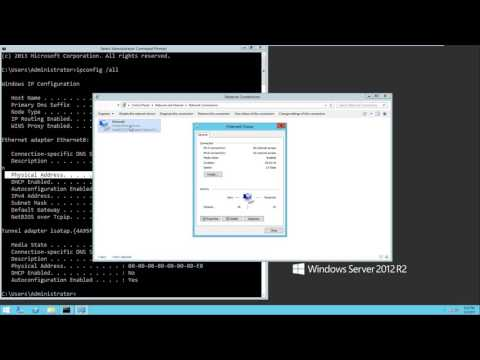 Change a MAC address on Windows Server 2012 R2