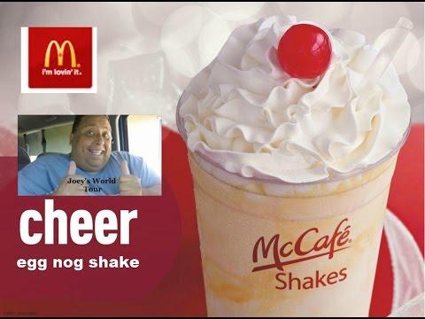 Mcdonald's Eggnog Shake & Holiday Pie REVIEW!