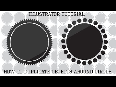 How To Duplicate Objects Around A Circle (Illustrator Tutorial) - Logo Design Tutorial