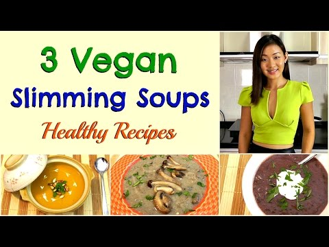 3 VEGAN Slimming Soups (Holiday Recipes)