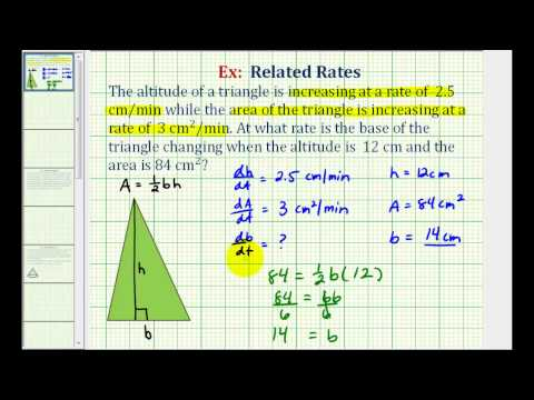 Ex: Related Rates - Area of Triangle