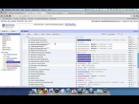 Organizing with Folders