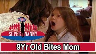 9Yr Old Bites Mum For Taking Her Phone! | Supernanny