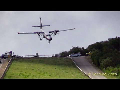 St Barth Amazing Plane landing and Takeoff footage at Gustaf III Airport