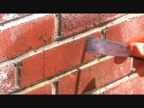 How to clean concrete residue from a brick work wall...Part 2