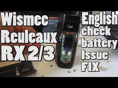 Wismec Reuleaux RX 2/3 check battery Issue FIX