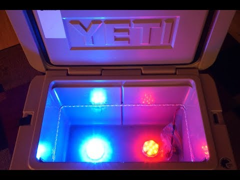 MAKE YOUR YETI COOLER GLOW CHEAP!! (Led cooler lighting solution)