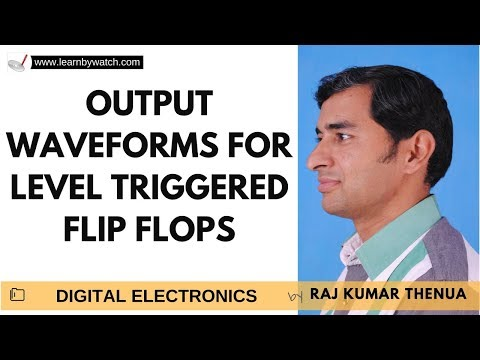 Output waveforms for level triggered flip flops | Hindi | Digital Electronics by Raj Kumar Thenua