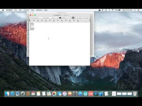 How to make HTML on Mac TextEdit