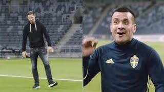 Zlatan Ibrahimovic överraskar - mitt under träningen