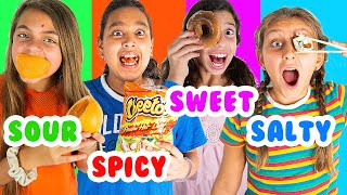 We only ate ONE FLAVOR of food challenge with Mimi Locks
