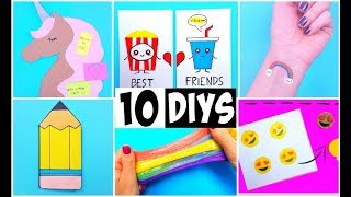 MAKING 10 AMAZING DIY School Supplies, BFF Gift Ideas, Room Decor & Temporary Tattoos COMPILATION!