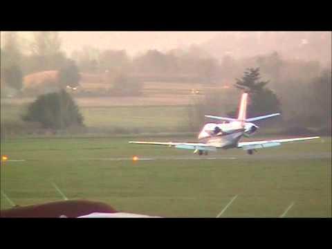 Cessna 560XL Citation XLS Landing and Parking up Exeter Airport