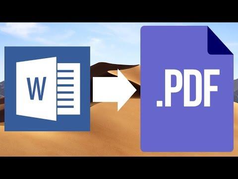 How to save Word file as PDF in Mac   MacBook Pro, iMac, Mac mini, Mac Pro, MacBook Air