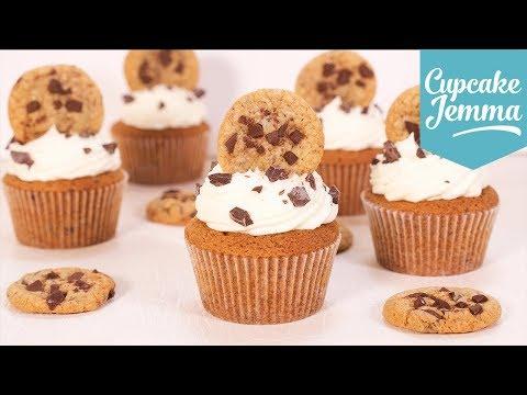 Chocolate Chip Cookie Cupcakes | Cupcake Jemma