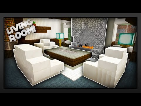 Minecraft - How To Make A Traditional Living Room