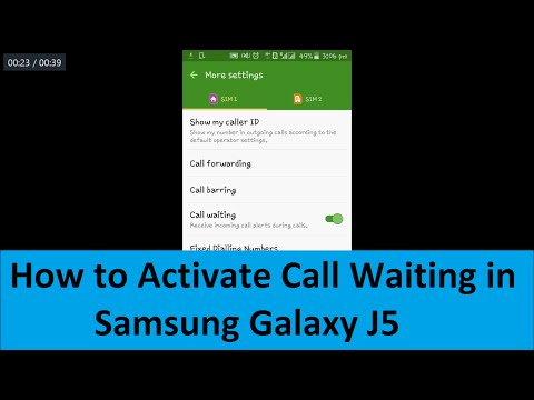 How to activate Call Waiting in Samsung Galaxy J5