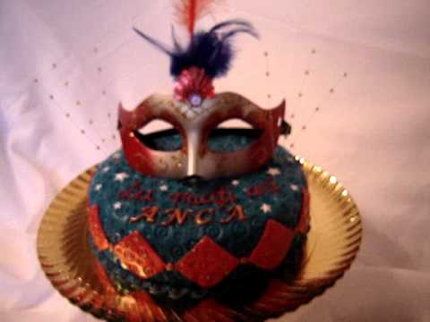 Mask Fondant Cake