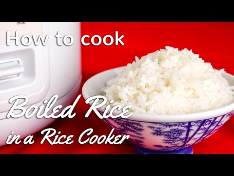 How To Cook Perfect Boiled Rice in Rice Cooker