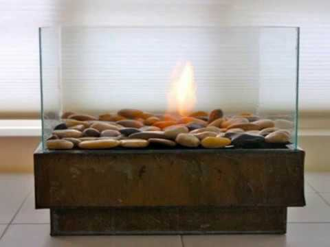 DIY ethanol fireplace decoration