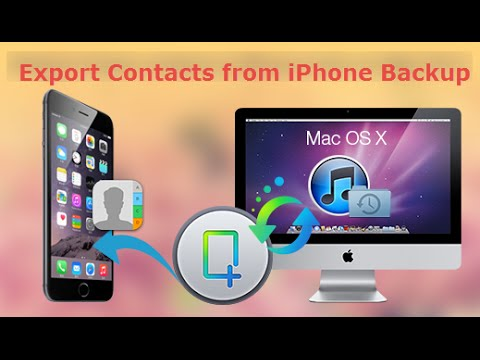 How to Export Contacts from iphone Backup