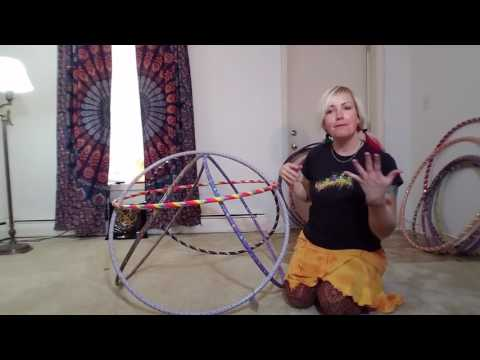 How to make a hula hoop fort.