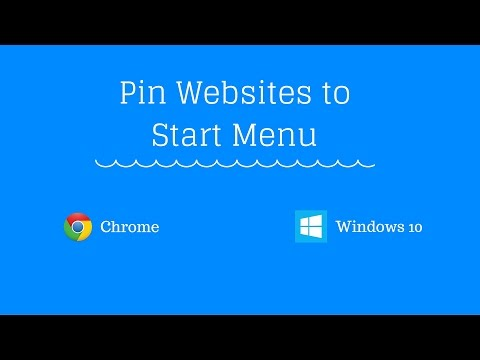 How to Pin Websites to Start Menu in Windows 10 from Chrome