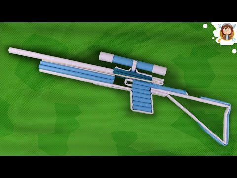 How To Make a Paper Sniper Rifle that Shoots