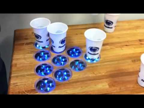 PSU led beer pong table