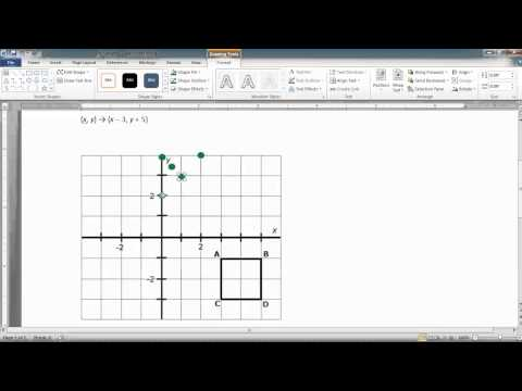 Drawing Coordinate Points and Segments in MS Word