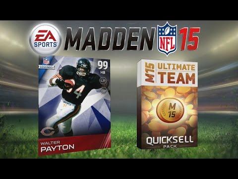 Madden 15 Ultimate Team - Walter Payton! AMAZING Super Bowl Legend Pack Opening! MUT 15