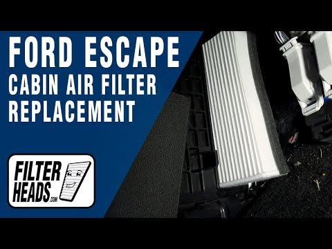 How to Replace Cabin Air Filter 2016 Ford Escape