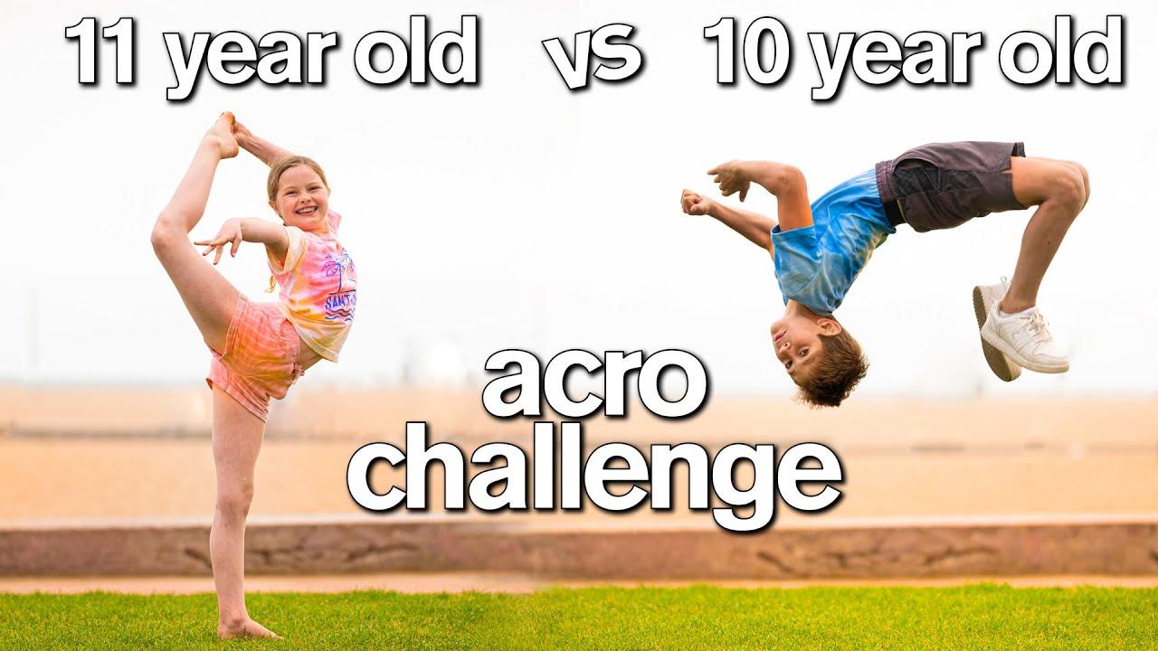 BOY vs GIRL Acro Gymnastics Challenge (DON'T Ship Them 😂)