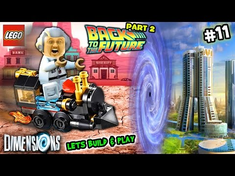 Lets Build & Play LEGO Dimensions #11: Doc Brown & Time Traveling Train go Back 2 the Future FGTEEV