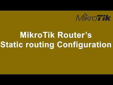 How to configure static routing in MikroTik routers?