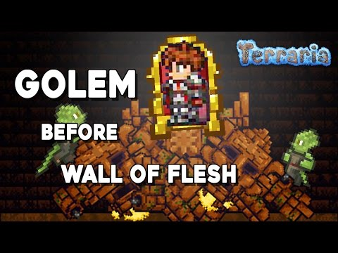 Terraria - How to Defeat Golem before Wall of Flesh