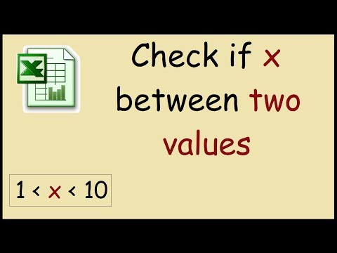 How to check if a value is between two values in Excel