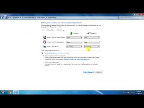 when close laptop sleep mode will not happen by change the setting