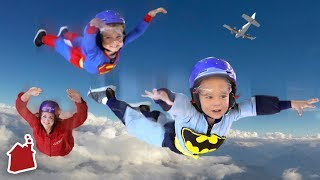 KIDS GO SKYDIVING FOR FIRST TIME! *Hilarious Reaction!*