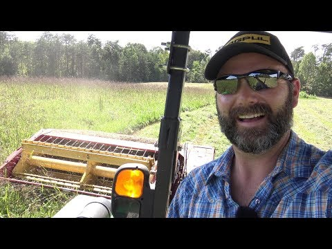 How does a haybine or hay cutter work? How I cut hay on the farm..drone fail :(