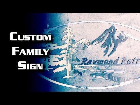Custom Family Sign -- Based on my website logo