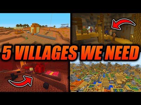 5 Villages WE NEED In Minecraft!! - Minecraft Xbox/PE/Java Top 5 Village Ideas