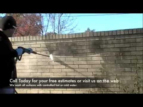 Pressure washing brick wall Preferred Fleetwash