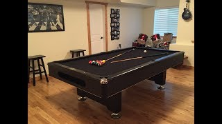 Assembly of a Pool Table with slate.