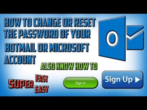 How to change the password of hotmail account on a laptop and computer in hindi