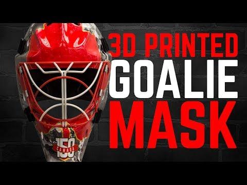 3D Printed Goalie Mask Celebrating Canada's 150th Birthday!