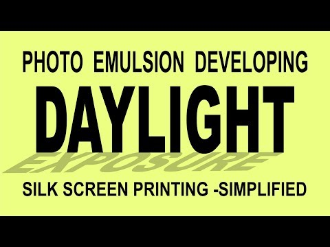 Photo Emulsion Developing using DAYLIGHT