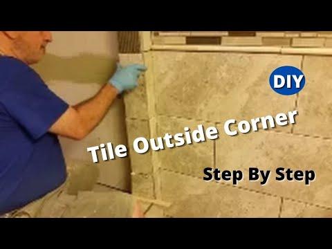 How To Tile Outside Corner - Step By Step - Shower Bathroom Tiling.