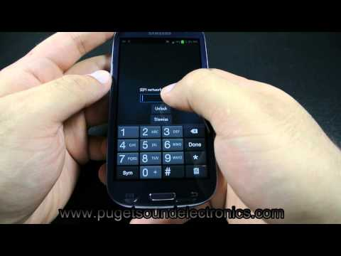 How to unlock At&t Samsung Galaxy S3 SGH I747